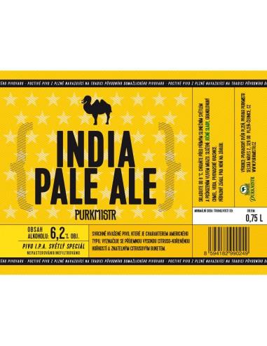 Etiketa Purkmistr India Pale Ale 14% 0,75 L
