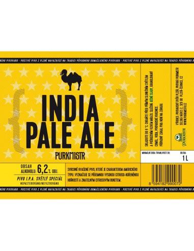 Etiketa Purkmistr India Pale Ale 14% 1 L