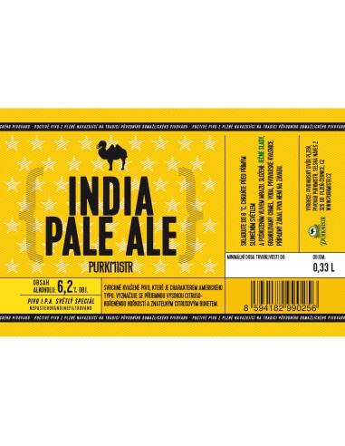 Etiketa Purkmistr India Pale Ale 14% 0,33 L