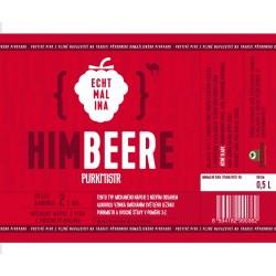 Etiketa Purkmistr HIMBEERE 0,5 L