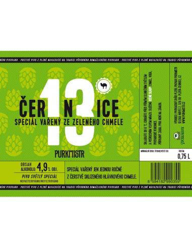 Etiketa Purkmistr Černice 13% 0,75 L