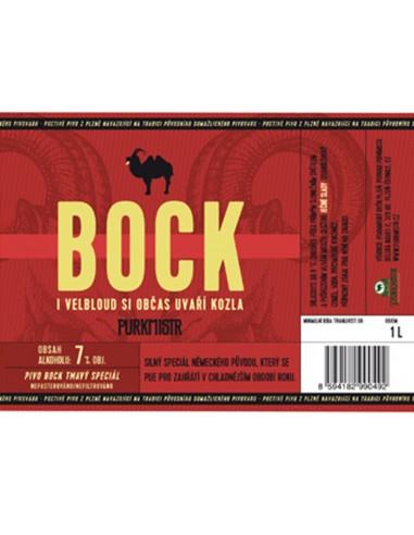 Etiketa Purkmistr Bock 1 L