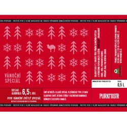 Etiketa Purkmistr Vánoční speciál 0,5 L