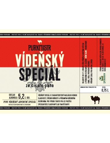 Etiketa Purkmistr Vídeňský speciál 0,75 L