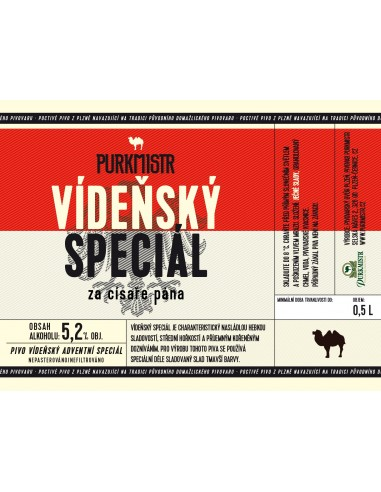 Etiketa Purkmistr Vídeňský speciál 0,5 L
