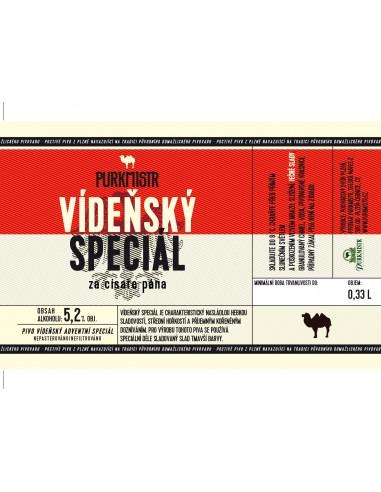 Etiketa Purkmistr Vídeňský speciál 0,33 L