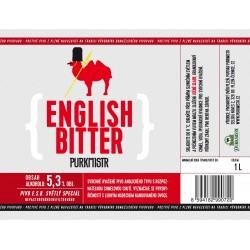 Etiketa Purkmistr English Bitter 1 L