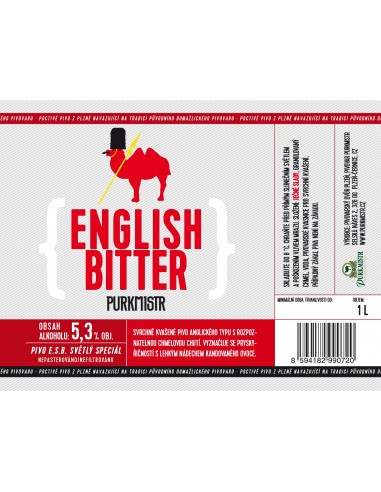 Etiketa Purkmistr English Bitter 1 L