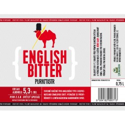Etiketa Purkmistr English Bitter 0,75 L