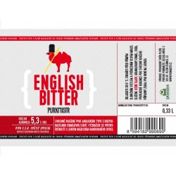 Etiketa Purkmistr English Bitter 0,33 L