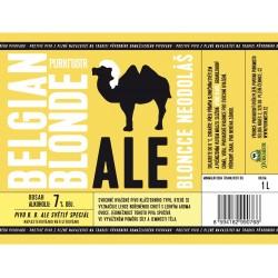 Etiketa Purkmistr Belgian Blonde 1 L