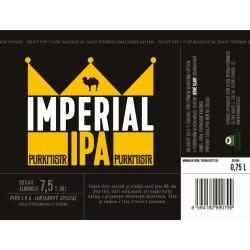 Etiketa Purkmistr Imperial Ipa 0,75 L