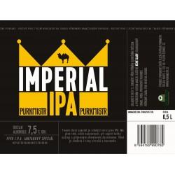 Etiketa Purkmistr Imperial Ipa 0,5 L