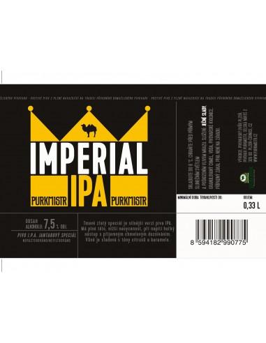 Etiketa Purkmistr Imperial Ipa 0,33 L