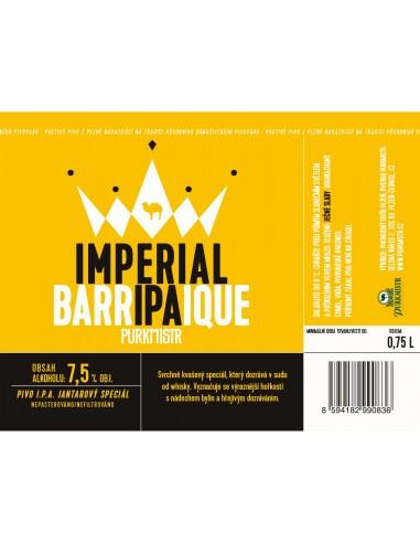 Etiketa Purkmistr Imperial Barrique Ipa 0,75 L
