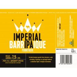 Etiketa Purkmistr Imperial Barrique Ipa 0,5 L