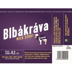 Etiketa Purkmistr Blbá kráva 0,75 L