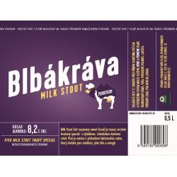 Etiketa Purkmistr Blbá kráva 0,5 L